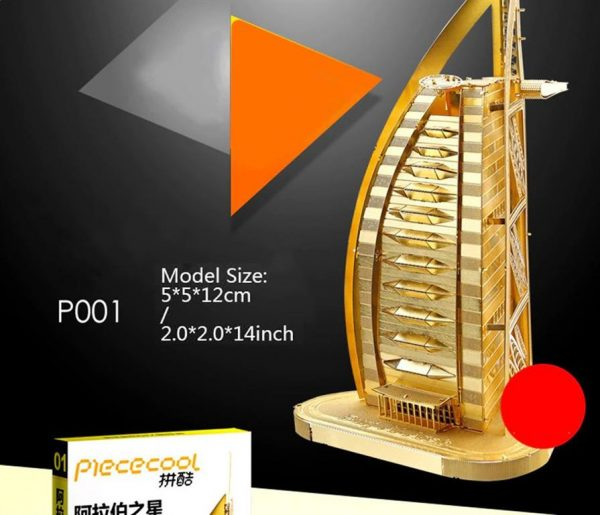 3D Metal Model Building Kits - Famous Buildings - Burj