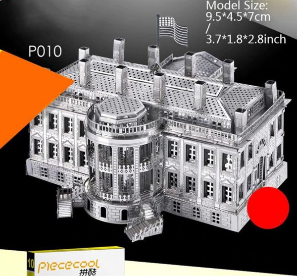 3D Metal Model Building Kits - Famous Buildings - White House - 2