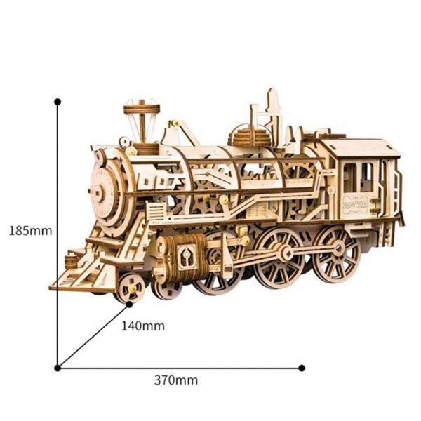 DIY 3D Wooden Train - 5