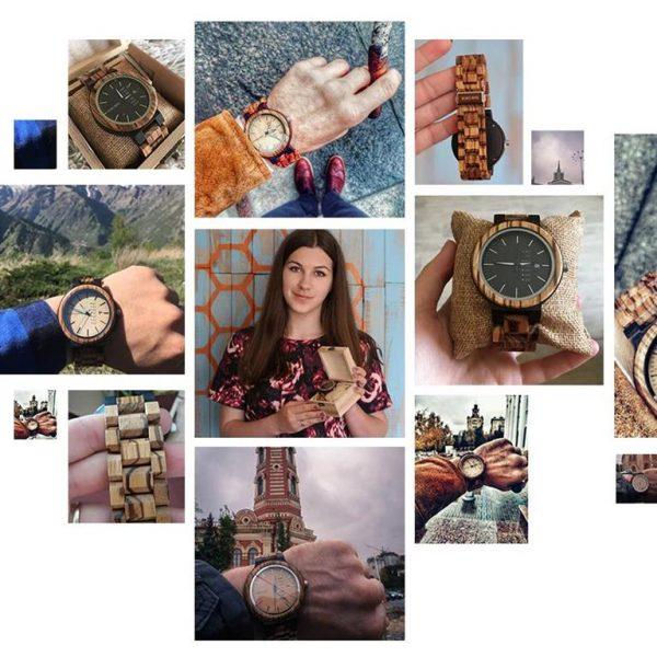 Men's Wooden Watch With Week Display - Samples