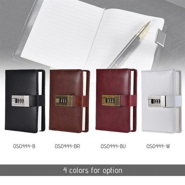 Notebook with Password Lock - Colours