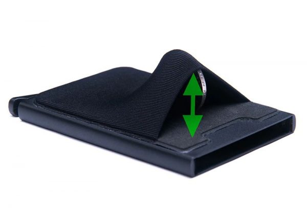Aluminum Credit Card Case With Elasticity Back Pouch - 2