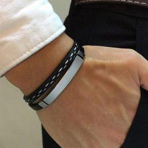 Customizable Leather Bracelets for Men - 2