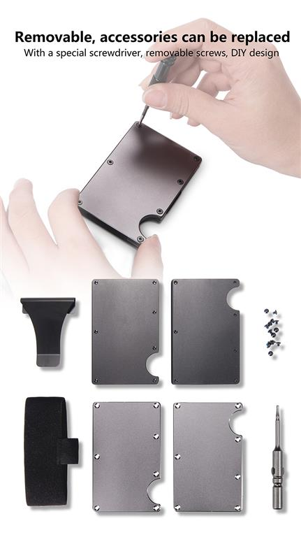 Metal Credit Card With Money Clip - Accessories
