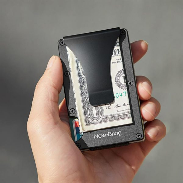 Metal Credit Card With Money Clip - Hand