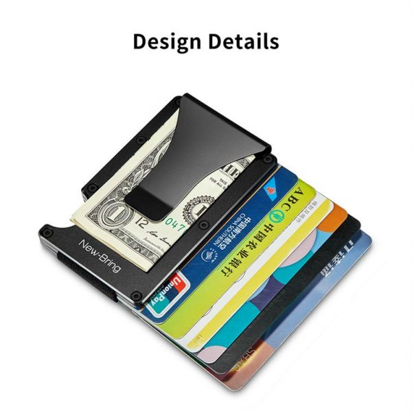 Metal Credit Card With Money Clip - Open