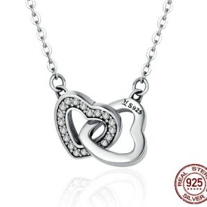 Sterling Silver Connected Hearts Pendant