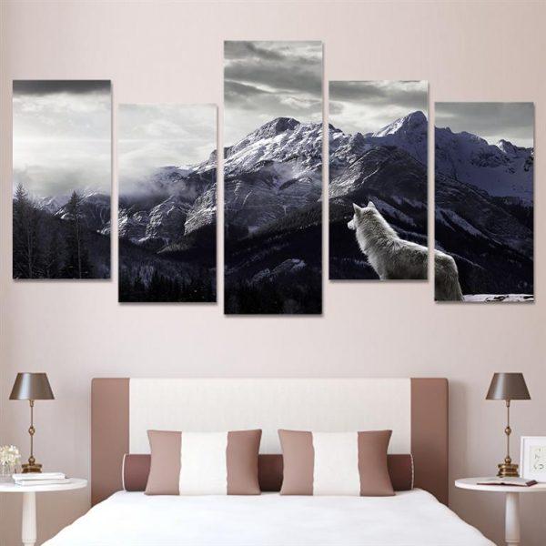 Canvas-Wall-Art-Nordic-Mountain-Landscape-2