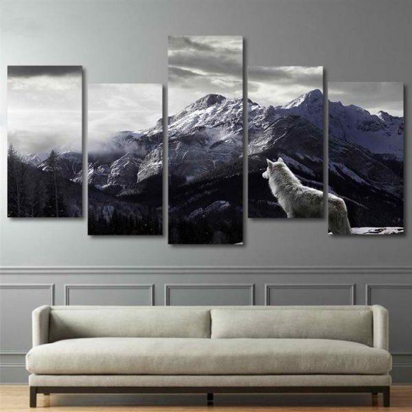 Canvas-Wall-Art-Nordic-Mountain-Landscape