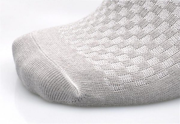 Men's Breathable Bamboo Fiber Business Socks - 5 pairs - Toes