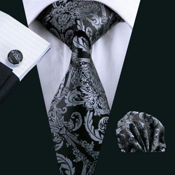 Men's Formal Tie, Hanky and Cufflink Set - 1
