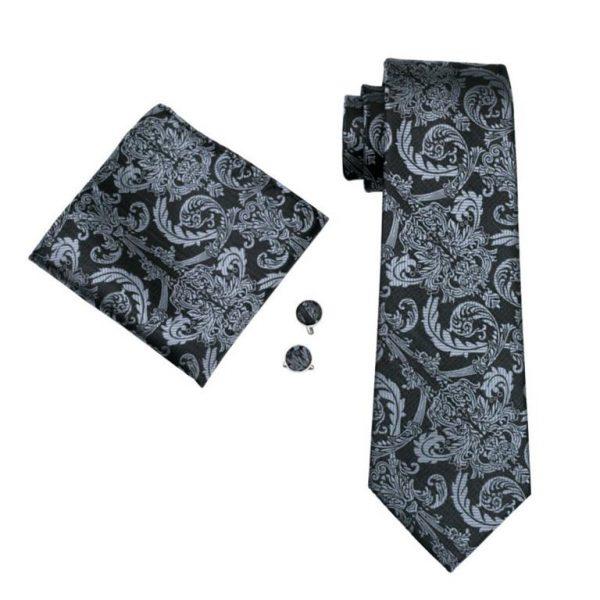 Men's Formal Tie, Hanky and Cufflink Set - 2