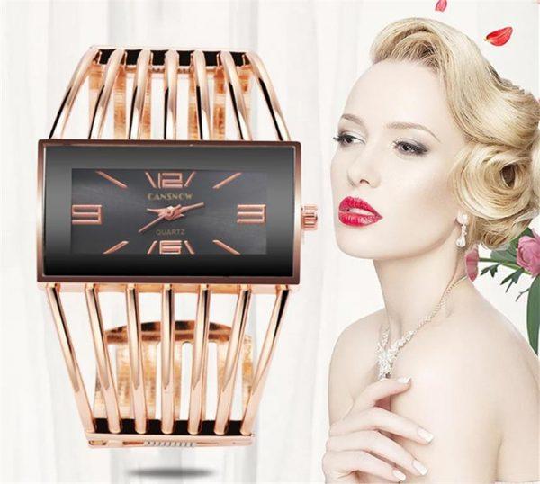 Rhinestone Bracelet Watch For Women - 1