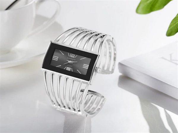 Rhinestone Bracelet Watch For Women - 2