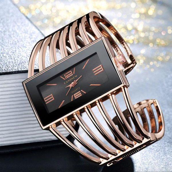 Rhinestone Bracelet Watch For Women - 4
