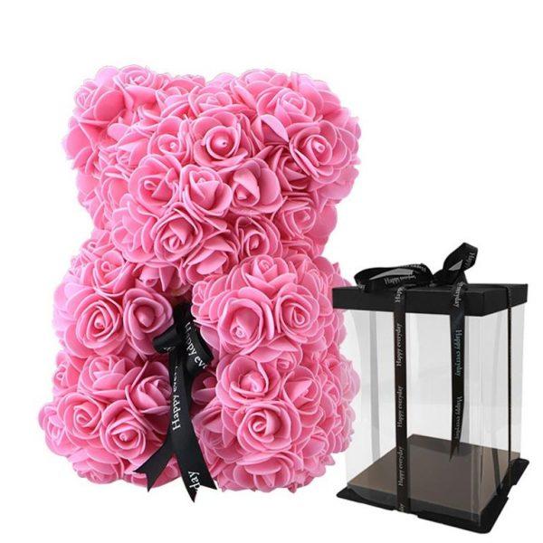 Beautiful Rose Teddy Bear - pink box