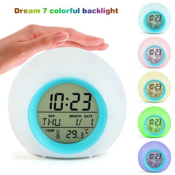 Childrens Colourful Digital Alarm Clock - 1