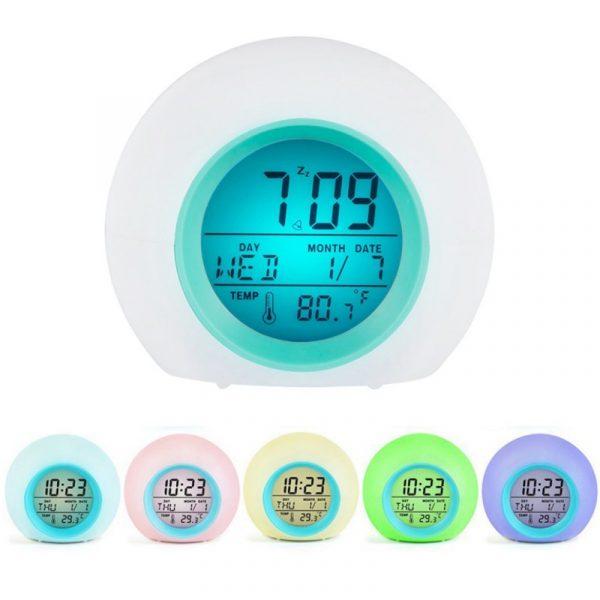 Childrens Colourful Digital Alarm Clock - 12