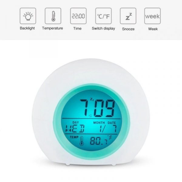 Childrens Colourful Digital Alarm Clock - 6
