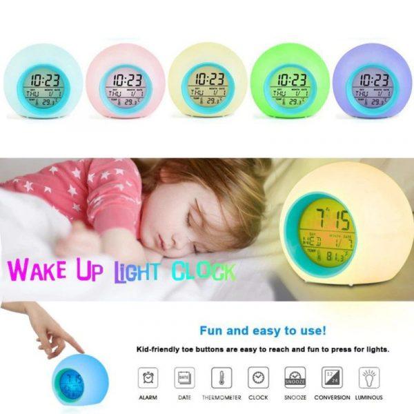 Childrens Colourful Digital Alarm Clock - 9