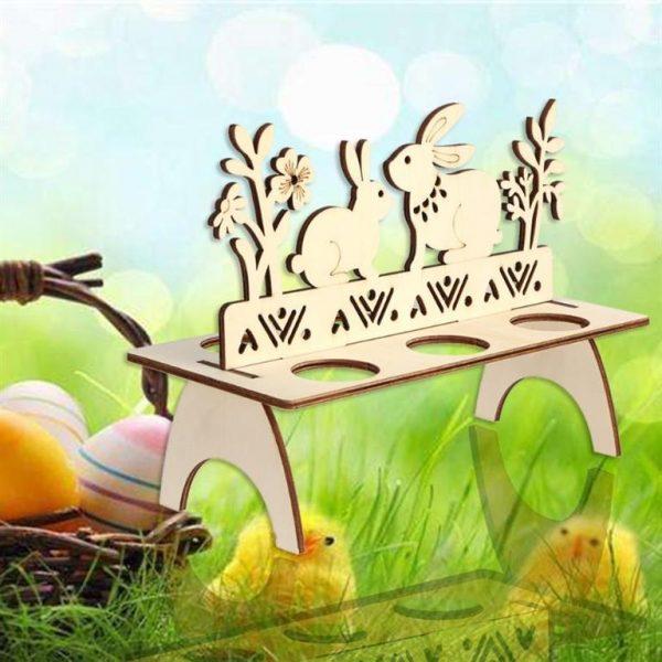 Decorative Wooden Easter Egg Holder - 5