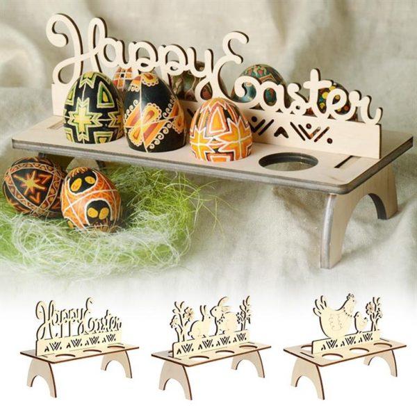 Decorative Wooden Easter Egg Holder