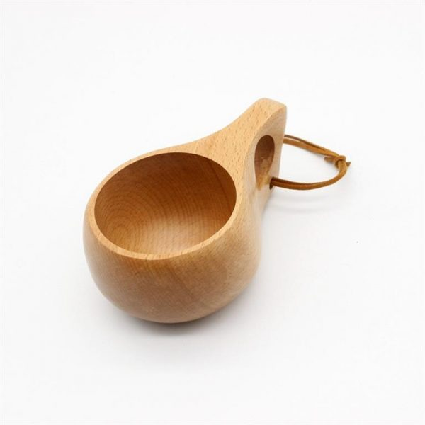 Handmade Nordic Style Wooden Cups - 9