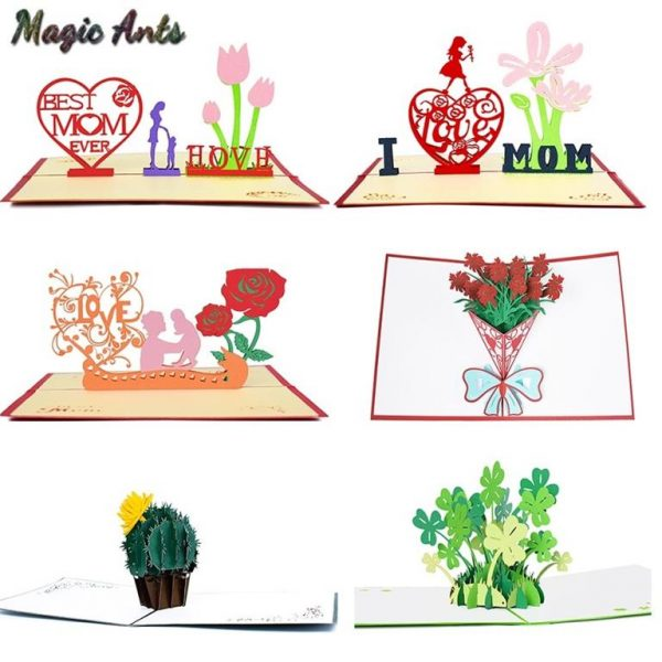 Mother's Day 3D Pop Up Cards