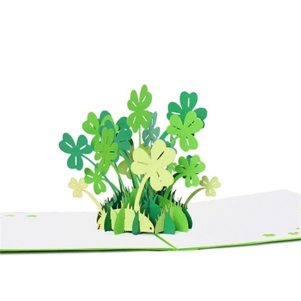 Mother's Day 3D Pop Up Cards - Four-leaved clover