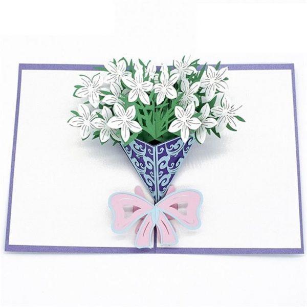 Mother's Day 3D Pop Up Cards - Gardenia bouquet