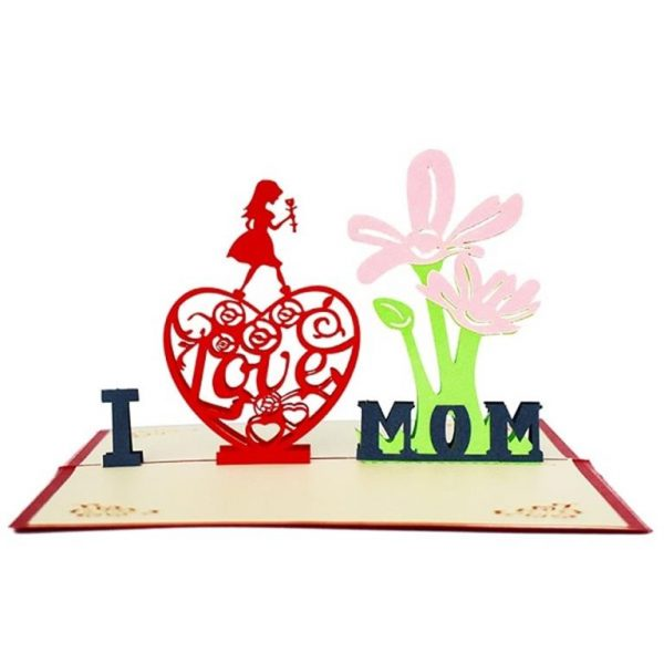Mother's Day 3D Pop Up Cards - I LOVE MOM