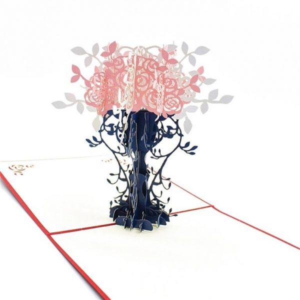 Mother's Day 3D Pop Up Cards - Rose Vase