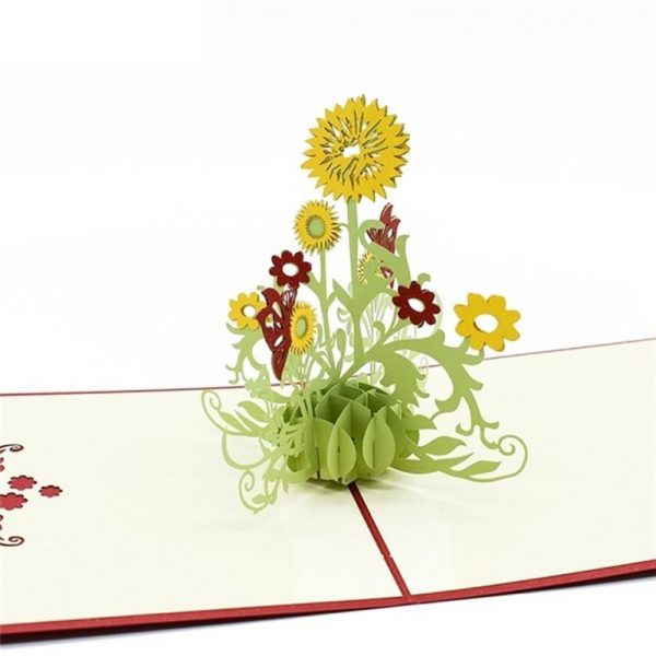Mother's Day 3D Pop Up Cards - Sunflower