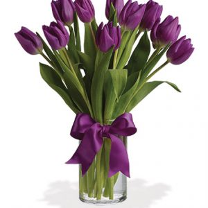 Passionate Purple Tulips Flower Delivery