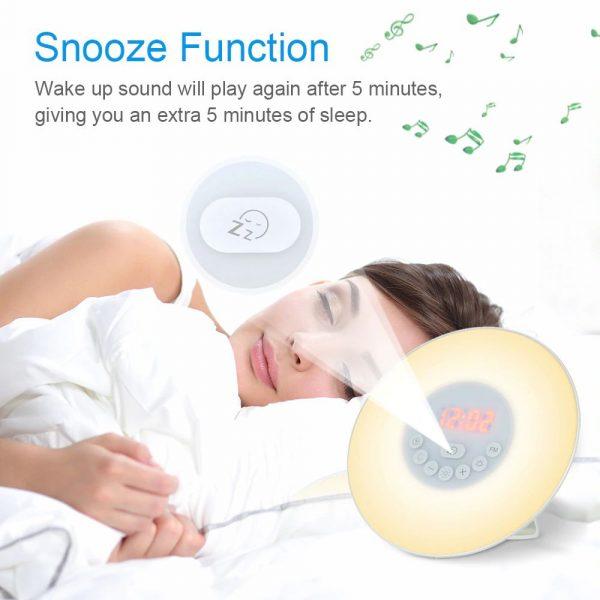 Simulated Sunrise Digital Alarm Clock with FM Radio - 8