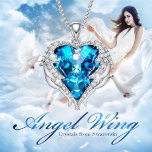Crystal Angel Wings Pendant
