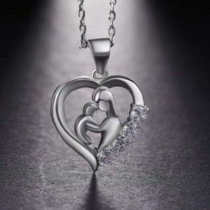 Cubic-Zirconia-Mom-and-Baby-Pendant-Silver (2)