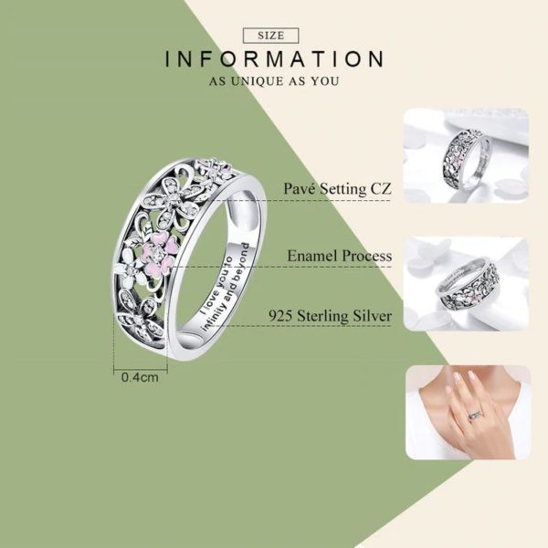 Sterling Silver Daisy Finger Ring - Specifications