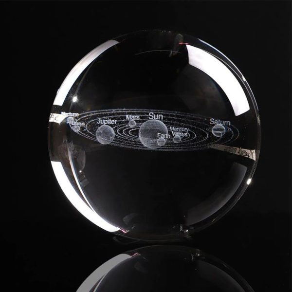 3D Laser Engraved Miniature Solar System Ball - Solo