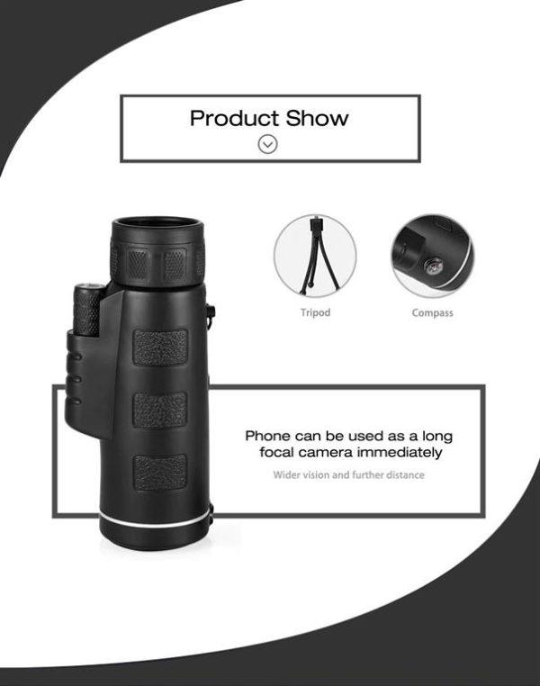 40X60 Monocular Telescope For Camera - Features