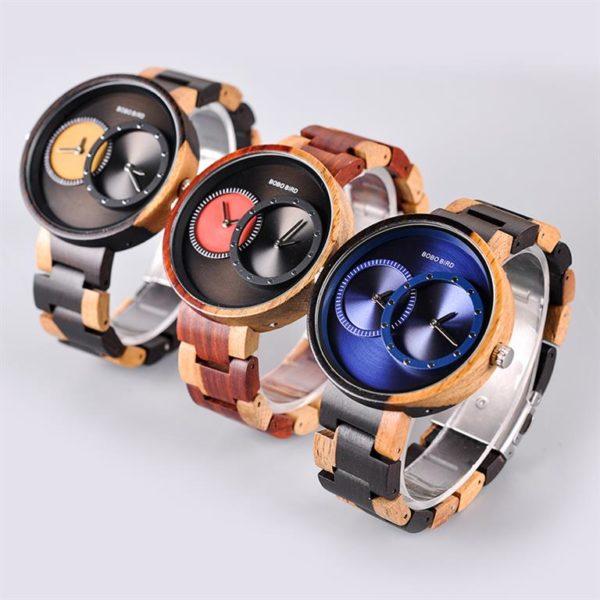 BOBO BIRD Wooden Watch With Dual Dials - Showcase