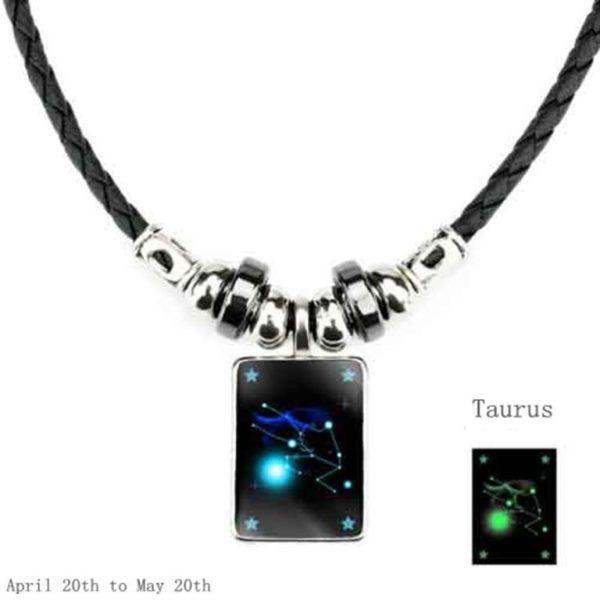 Luminous Zodiac Pendant_Taurus