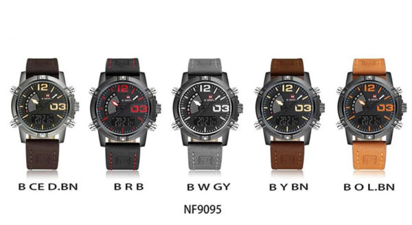 Men's Fashion Leather Military Sport Watch - Colours