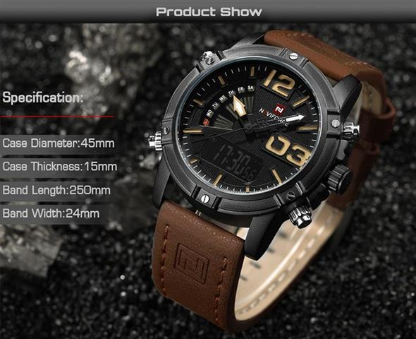 Men's Fashion Leather Military Sport Watch - Specifications - 2
