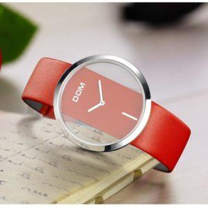 Unique Minimalistic Fashion Watch For Women - Red