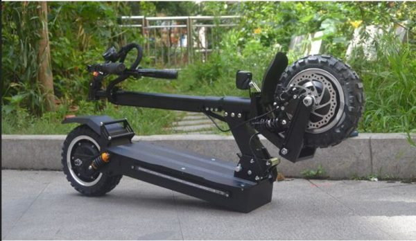 All Terrain Foldable Electric Scooter - Folded
