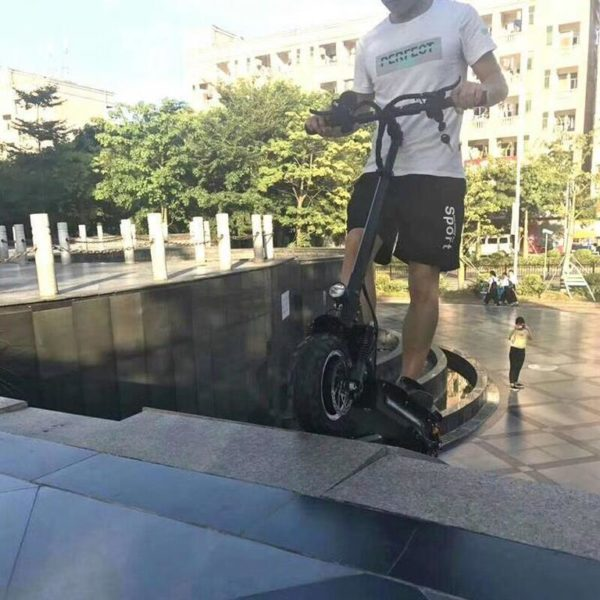 All Terrain Foldable Electric Scooter - Stairs