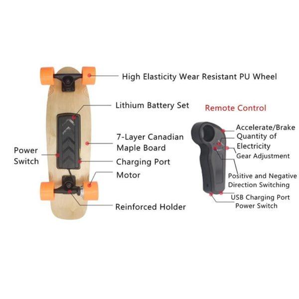 Long Electric Skateboard - 11