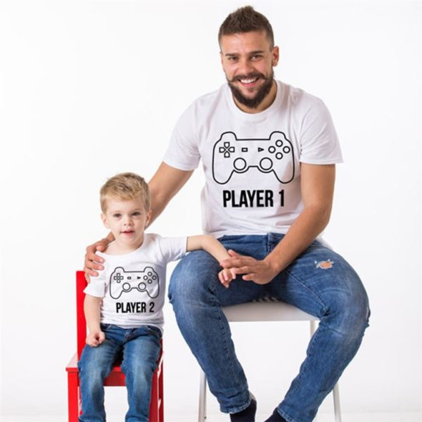 Matching Father And Son T Shirts - Player