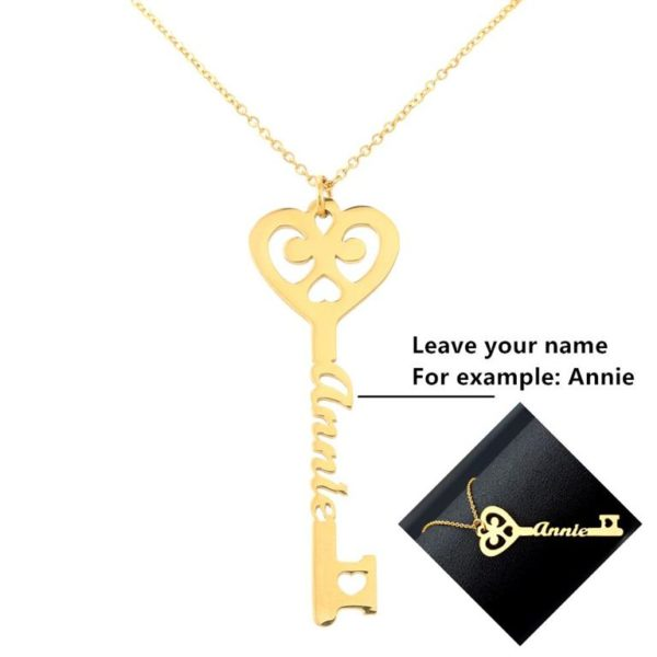 Personalized Key Necklace 1